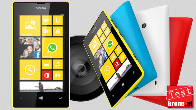 Nokia Lumia 520: Bunter Einstieg in die Smartphonewelt (Bild: Nokia, krone.at-Grafik)