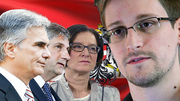 Österreichs Politik weist Snowdens Asylantrag zurück (Bild: EPA, APA, thinkstockphotos.de, krone.at-Grafik)