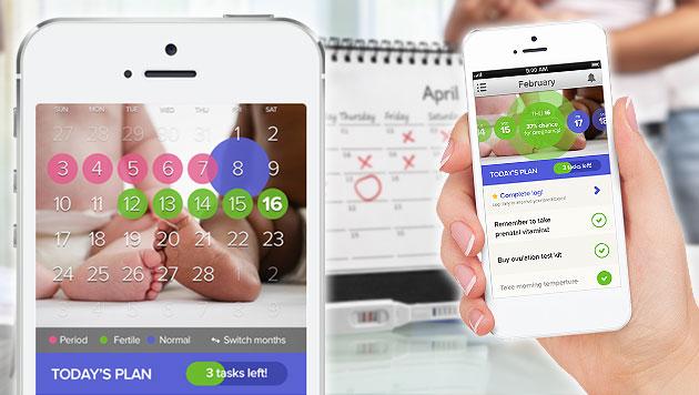 Neue iPhone-App soll Paaren helfen, Kinder zu zeugen (Bild: Glow, thinkstockphotos.de, krone.at-Grafik)