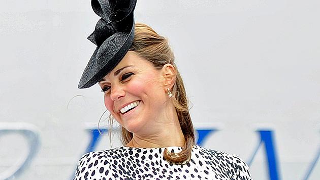 """Kate fühlt sich kurz vor der Geburt noch immer """"großartig"""" (Bild: EPA)"""