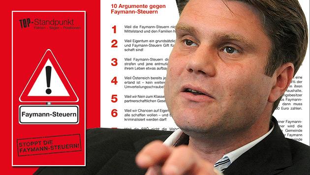 "ÖVP-General Rauch: ""Faymann ist unser direkter Gegner"" (Bild: APA/HERBERT PFARRHOFER, krone.at-Grafik)"