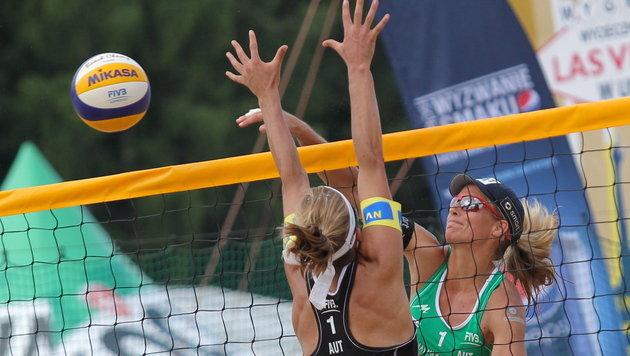 Doris und Stefanie Schwaiger scheitern im Viertelfinale (Bild: EPA)