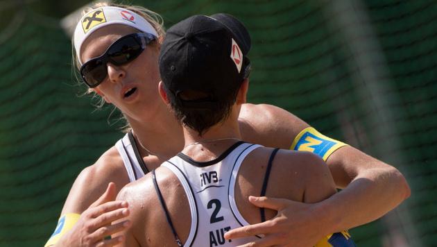 Doris und Stefanie Schwaiger stehen im Viertelfinale (Bild: Kronen Zeitung)