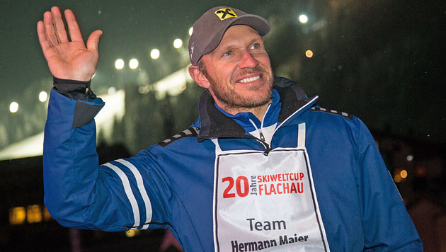 Hermann Maier ist Vater von Zwillingen (Bild: APA/Johann Groder)