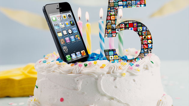 App Store: Apple feiert 5. Geburtstag mit Gratis-iOS-Apps (Bild: thinkstockphotos.de, Apple, krone.at-Grafik)
