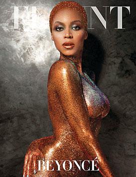 "Beyonce als fast nacktes ""Golden Girl"" auf Cover (Bild: Flaunt)"