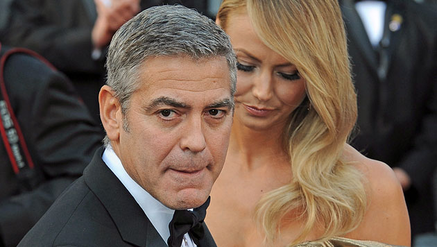 Clooney & Keibler: Trennung angeblich am Telefon (Bild: EPA)