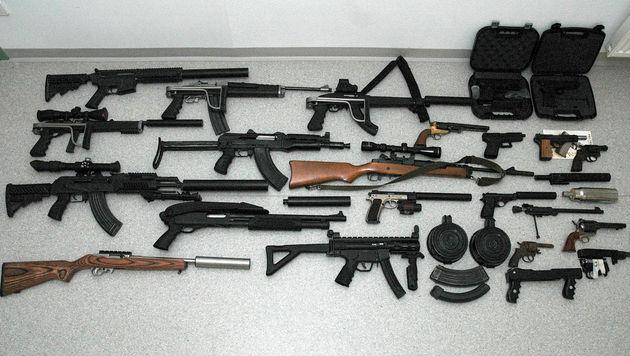 Landwirt bunkert illegale Waffen in NÖ - angezeigt (Bild: APA/POLIZEI)