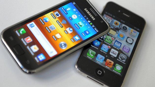 """US-Dieb """"tauscht"""" sein Galaxy gegen iPhones (Bild: Andreas Gebert/dpa)"""