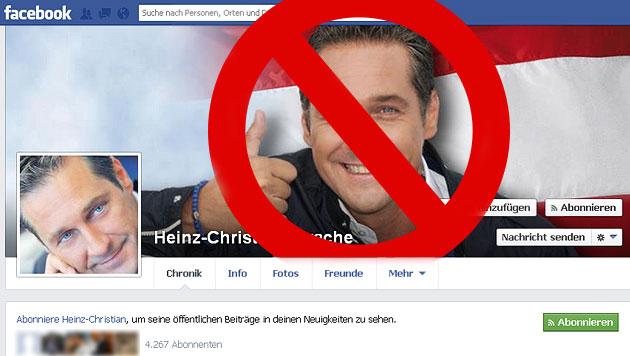 Wirbel um Facebook-Sperre für FP-Chef Strache (Bild: Screenshot Facebook, krone.at-Grafik)