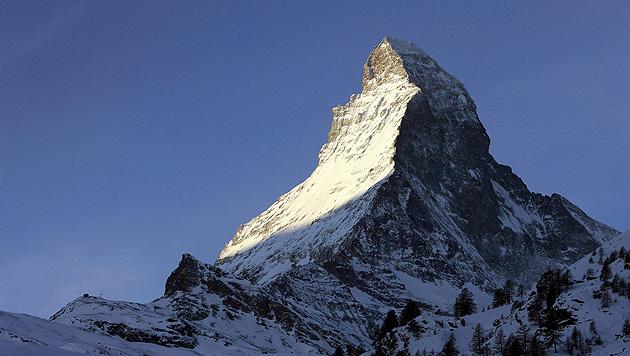 Zwei englische Bergsteiger am Matterhorn erfroren (Bild: EPA)