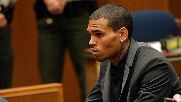 Chris Brown erlitt im Tonstudio einen Krampfanfall (Bild: AP)