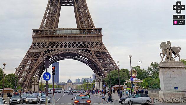 Google ermöglicht Rundgang durch Pariser Eiffelturm (Bild: tour-eiffel.fr)