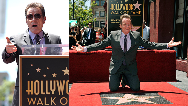 """Bryan Cranston erhielt Stern am """"Walk of Fame"""" (Bild: AP)"""