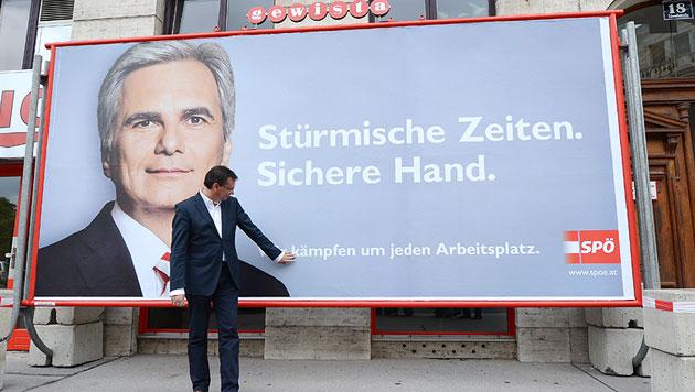 """""""Gerechtigkeits-Reform"""" gegen die """"Millionärs-Banker"""" (Bild: APA/HELMUT FOHRINGER)"""