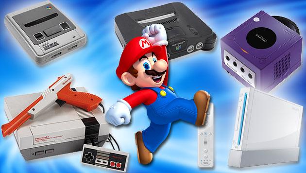 Vom Spielkarten-Hersteller zum Videogame-Urgestein (Bild: Nintendo, krone.at-Grafik)