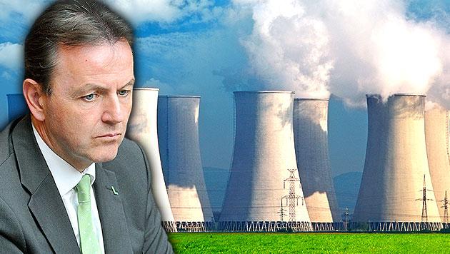 """""""Todesenergie"""" aus AKWs emp�rt die Austro-Politik (Bild: APA/HANS PUNZ, thinkstockphotos.de, krone.at-Grafik)"""