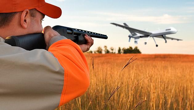 US-Kleinstadt gibt Drohnen bald zum Abschuss frei (Bild: thinkstockphotos.de, krone.at-Grafik)