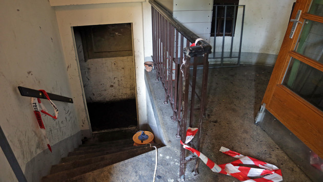 Fünf Verletzte bei Kellerbrand in Wien-Leopoldstadt (Bild: Klemens Groh)