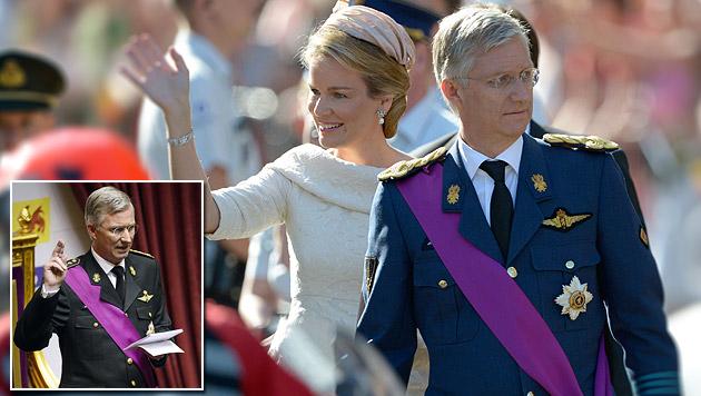 Philippe ist offiziell der neue König von Belgien (Bild: AP, AFP)