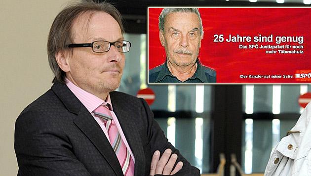 Riesenwirbel um FPÖ-Werbeaktion mit Fritzl-Konterfei (Bild: APA/HERBERT PFARRHOFER, Freiheitliche Arbeitnehmer NÖ)