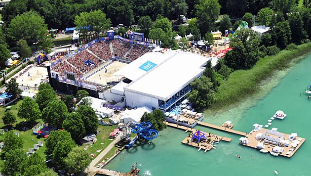 Beachvolleyball-EM 2015 wie 2013 in Klagenfurt (Bild: ACTS)