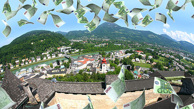 Salzburg kassierte unrechtmäßig Katastrophenhilfe (Bild: APA/HELMUT FOHRINGER, thinkstockphotos.de, krone.at-Grafik)