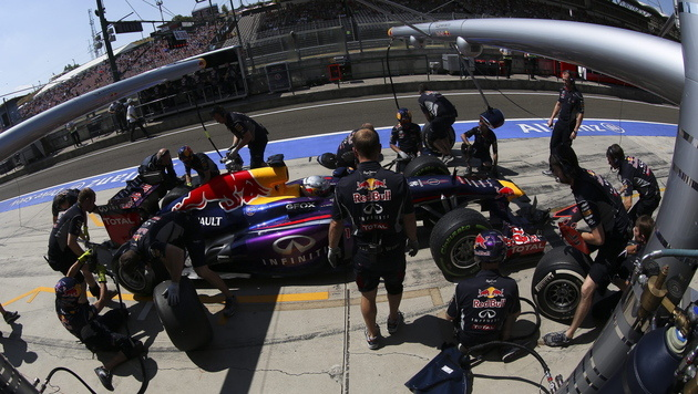 Red-Bull-Piloten in Freitagstrainings unschlagbar (Bild: EPA)