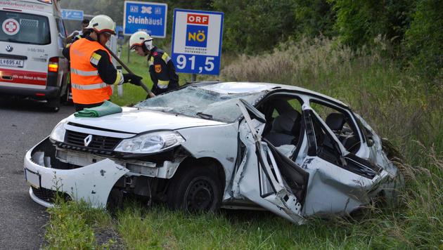 NÖ: Vier Verletzte bei Auffahrunfall auf der A21 (Bild: Einsatzdoku.at)