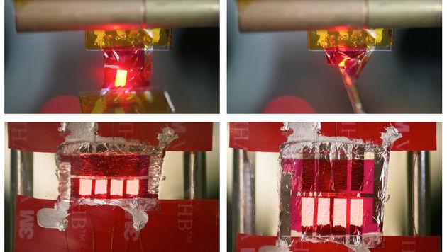 Forscher entwickeln weltweit dünnste Leuchtdiode (Bild: jku.at)