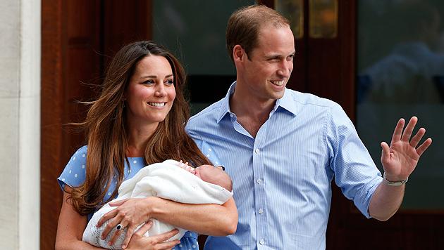 Kleiner Prinz George hat schon einen Spitznamen (Bild: EPA)