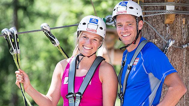 Marlies Schild und Benjamin Raich haben geheiratet (Bild: APA/EXPA/Johann Groder)