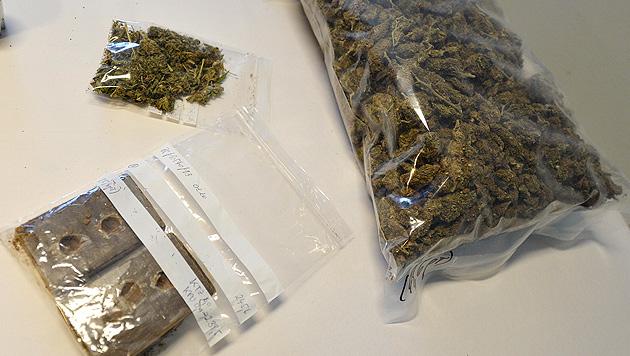 3 Drogenringe von Salzburger Polizei zerschlagen (Bild: APA/BARBARA GINDL)