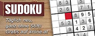 Sudoku - t�glich neu spielen auf krone.at
