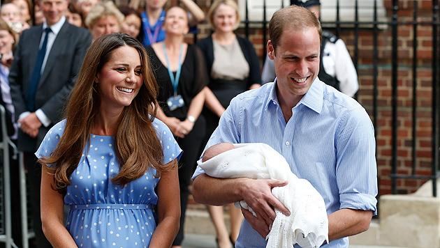 Prinz William singt Coldplay-Songs für Baby George (Bild: AP)