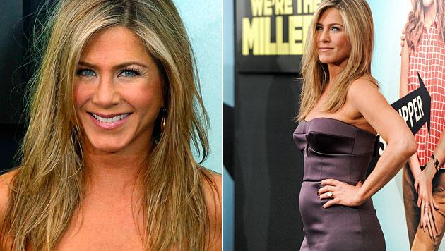 Sogar Aniston ist neidisch auf Giseles sexy Kurven (Bild: EPA)