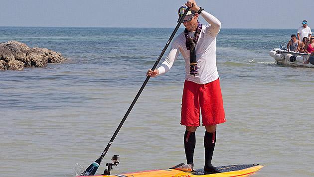 US-Extremsportler paddelt von Florida bis Kuba (Bild: AP, EPA)