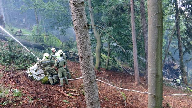 """""""Unmenschliche"""" Feuerwehreinsätze bei Waldbränden (Bild: APA/FRANZ STADLER/FF STEINBACH)"""