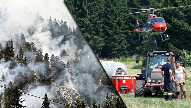 """""""Unmenschliche"""" Feuerwehreinsätze bei Waldbränden (Bild: Hannes Wallner)"""