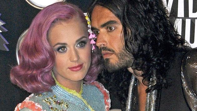 Katy Perry und Ex-Mann Russell Brand (Bild: EPA)