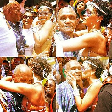 Rihanna zeigt als heißes Samba-Girl sehr viel Haut (Bild: Instagram)