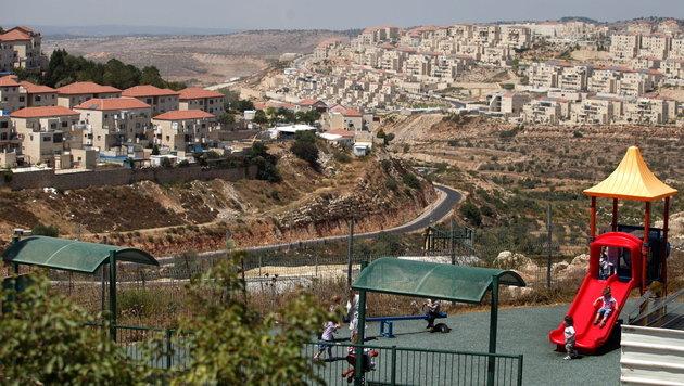 Eine israelische Siedlung im Westjordanland (Bild: EPA)