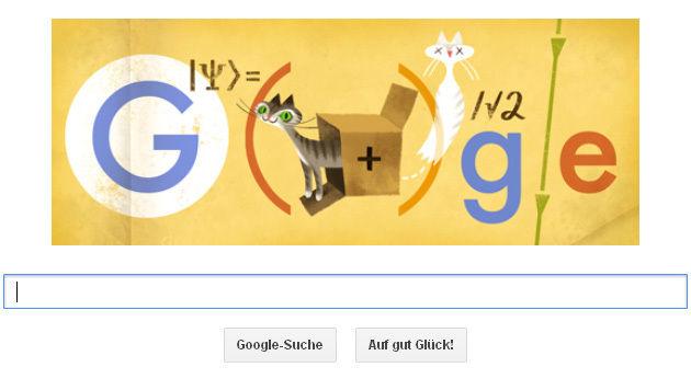 Google feiert Austro-Physiker Erwin Schrödinger (Bild: Screenshot, google.at)