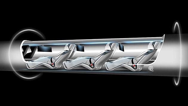 """Emirat Dubai baut ersten """"Hyperloop""""-Zug (Bild: Tesla Motors)"""