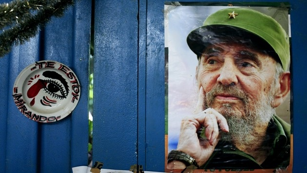 """Der Kult um den """"Maximo Lider"""" ist auf Kuba auch nach den ersten Zeichen der Öffnung allgegenwärtig. (Bild: AP)"""