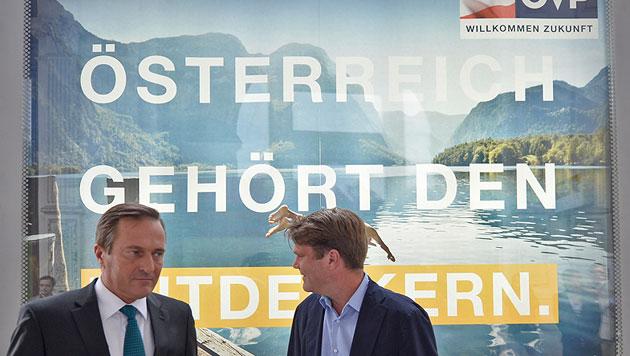 ÖVP präsentiert Plakatserie - ohne Spindelegger (Bild: APA/HERBERT NEUBAUER)