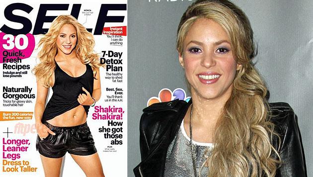 Shakira ist stolz auf ihren After-Baby-Body (Bild: Self, AP)