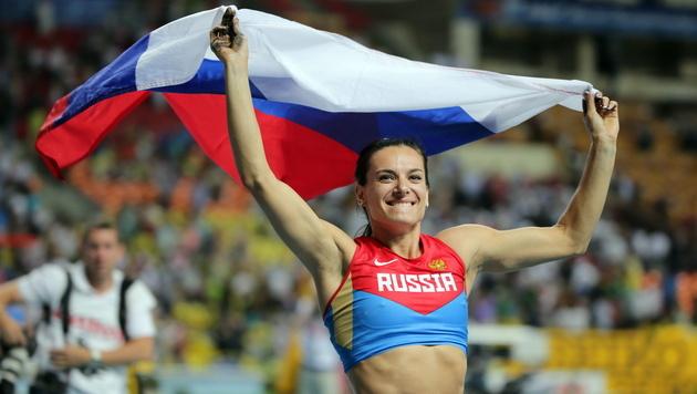 Weltrekordlerin Isinbajewa: Gold in Rio für Kira (Bild: EPA)