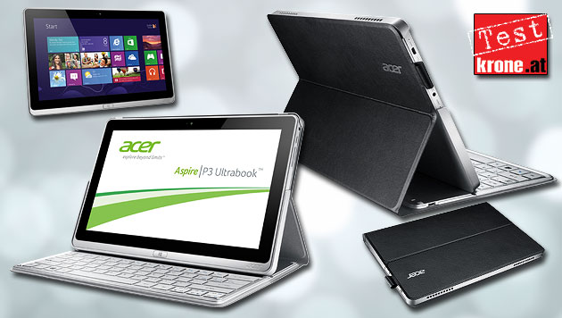 Acer Aspire P3: Windows-Tablet im Aktenmappen-Look (Bild: Acer, krone.at-Grafik)