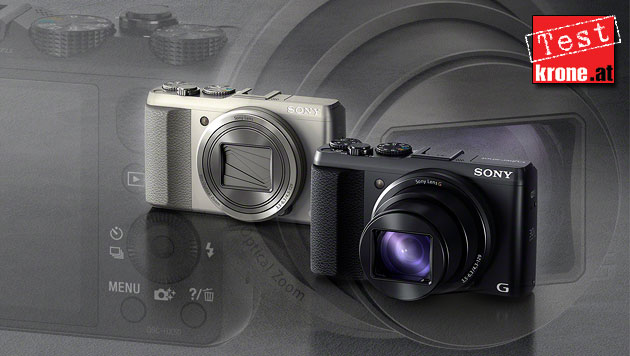 Cyber-shot HX50: Sonys kompakter Zoom-Künstler (Bild: Sony, krone.at-Grafik)